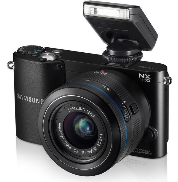 Samsung NX1100 Mirrorless Smart Camera with flash