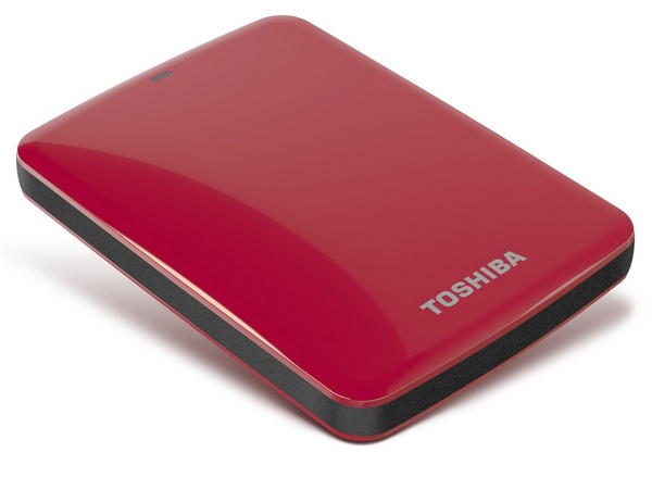 Toshiba Canvio Connect Portable Hard Drive red