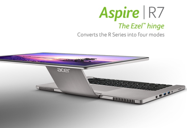 Acer Aspire R7 Notebook with Flexible Ezel Hinge 4