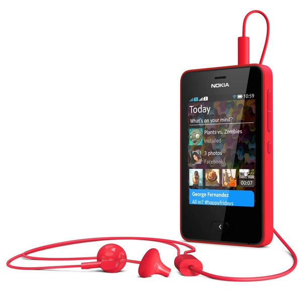 Nokia Asha 501 Feature Phone runs on Asha Platform headphones