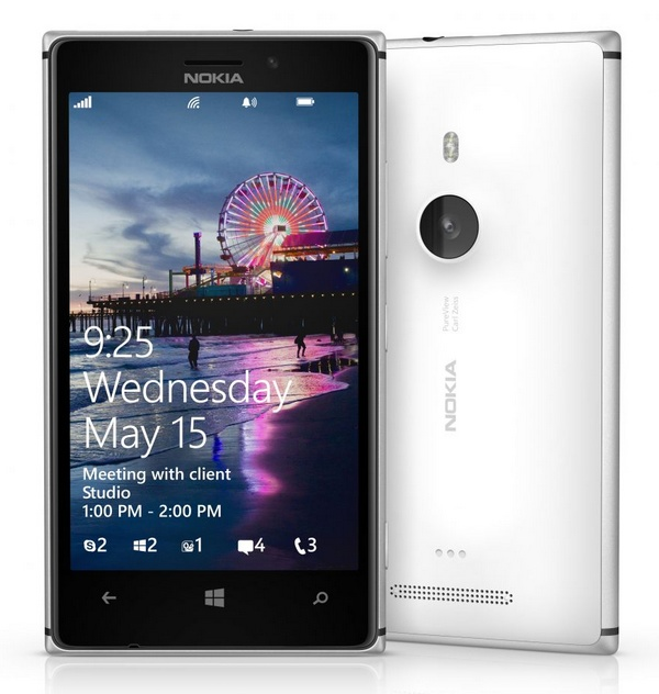 Nokia Lumia 925 Windows Phone front back
