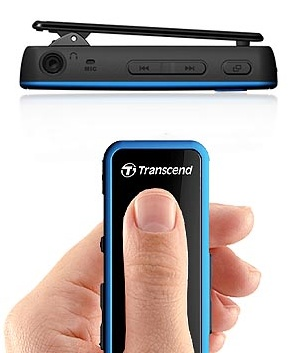 Transcend MP350 Waterproof Portable Music Player clip