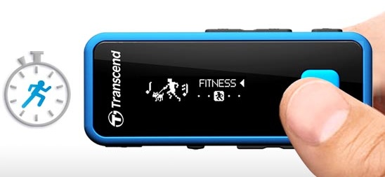 Transcend MP350 Waterproof Portable Music Player fitness
