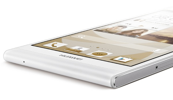 Huawei Ascend P6 ultra slim smartphone bottom