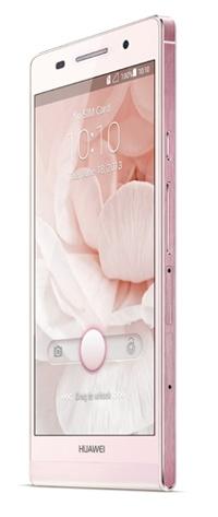 Huawei Ascend P6 ultra slim smartphone pink 2