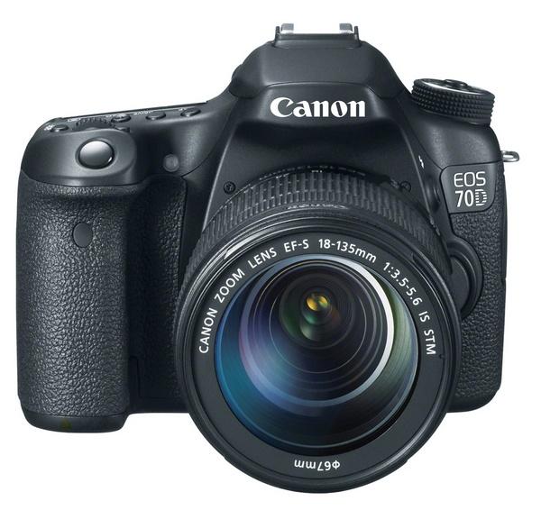 Canon EOS 70D DSLR with Dual Pixel CMOS AF front