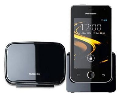 Panasonic KX-PRX120 Cordless Home Phone runs Android 4.0 ICS front