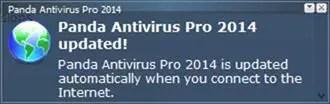 Panda Antivirus Pro 2014 update notification