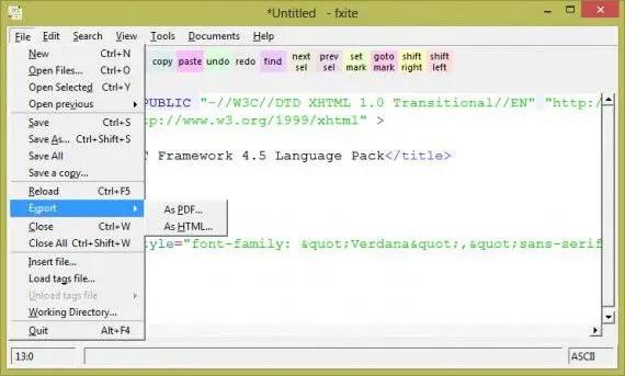 FXiTe-PDF-export