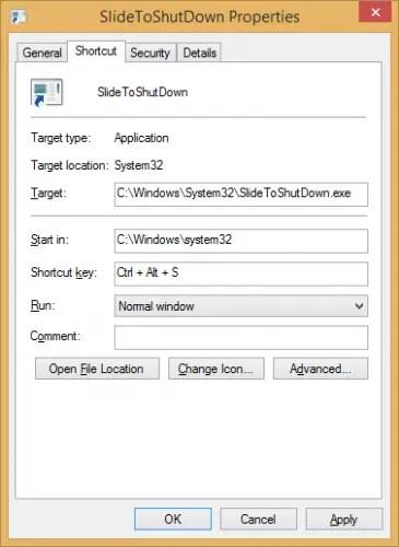Keyboard shortcut for Slide To Shutdown