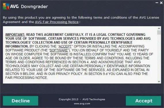 AVG Downgrader agreement