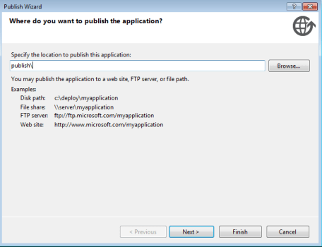 Visual Studio publish wizard-1