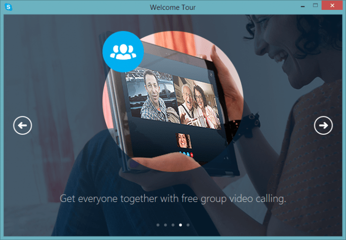 Skype 7.0 - Group video calling