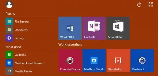 Windows 10 Technical Preview Start Menu