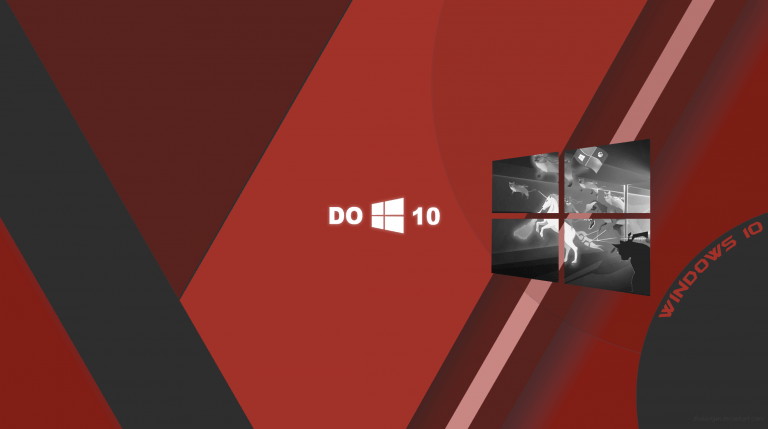 Wallpaper Windows 10 Red