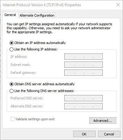 TCP IP Configuration Windows 10