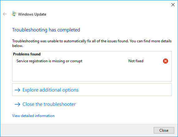 Troubleshooting Windows Update problems