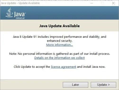 Download Java 8 Update 91 Offline Installers