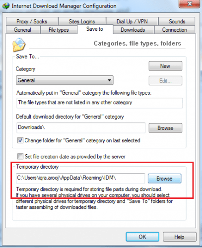 changing-the-temporary-folder-of-idm