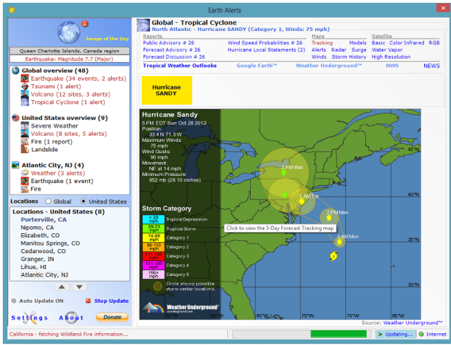 Earth Alerts weather forecasting apps