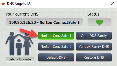 3 - Enable Family Protection In Windows 10 Using DNS Angel