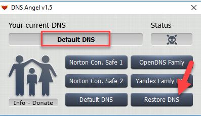 4 - Enable Family Protection In Windows 10 Using DNS Angel