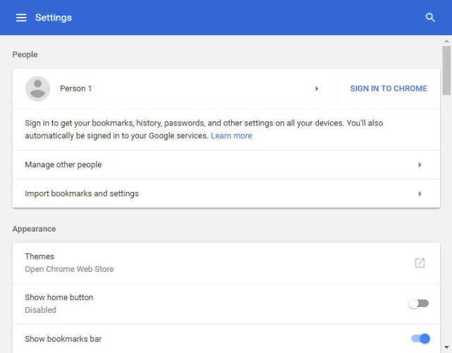 Google Chrome 59 settings page 641x500 - Google Chrome 59 Offline Installers Download For All Operating Systems