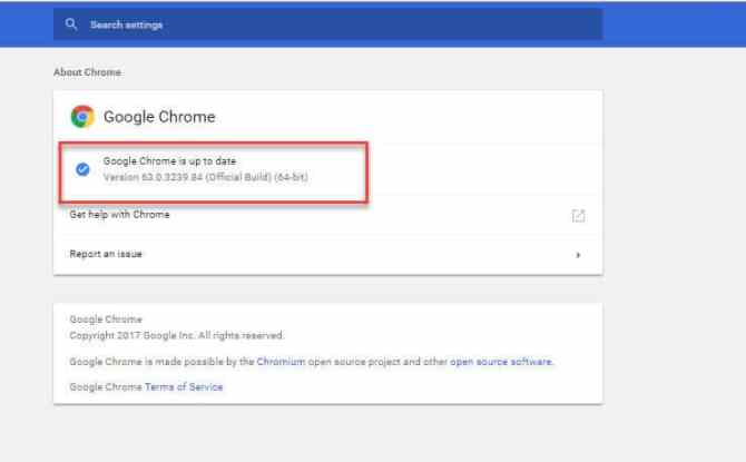 Up to Date with Chrome 63 offline installer