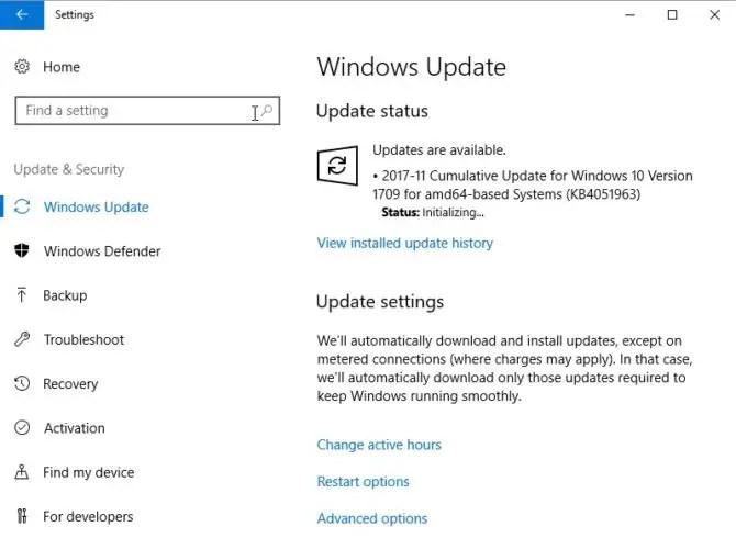 KB4051963 Windows Update