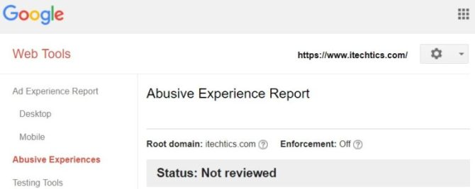 Google Abusive Experience Report