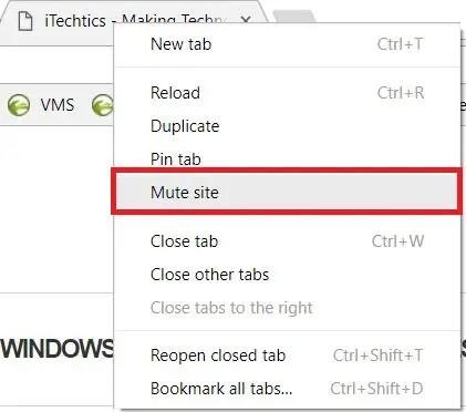 mute site in Chrome 64