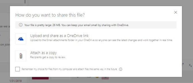 Outlook.com attachment file warning