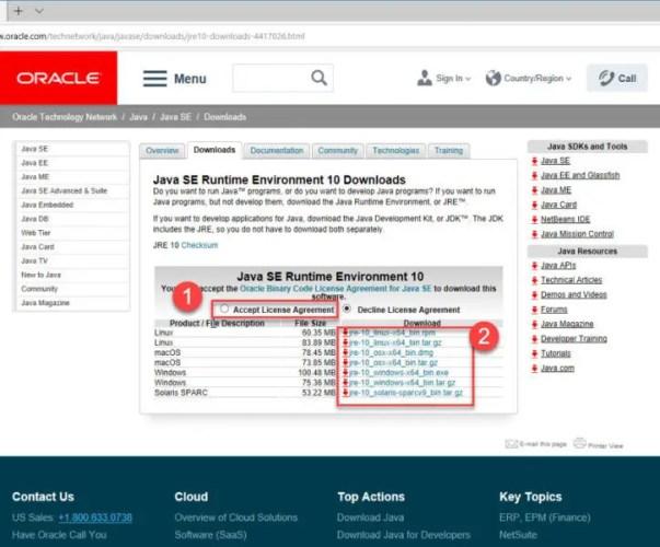 Java 10 Download
