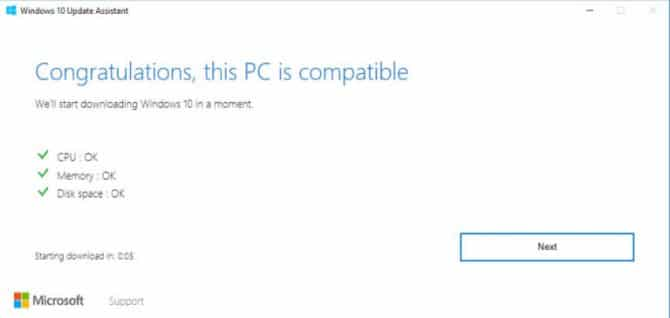 Upgrade Assistant checking compatibility settings