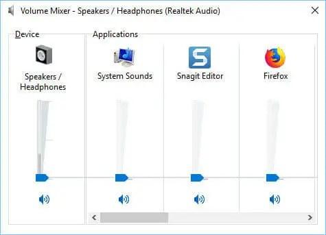 Windows 10 Sound Mixer