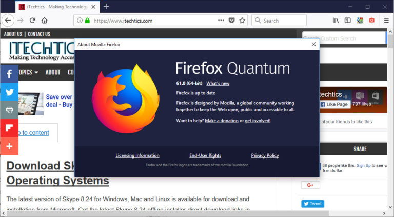 Firefox 61 Offline Installers For All Operating Systems