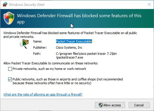 Allow CPT through Windows Firewall