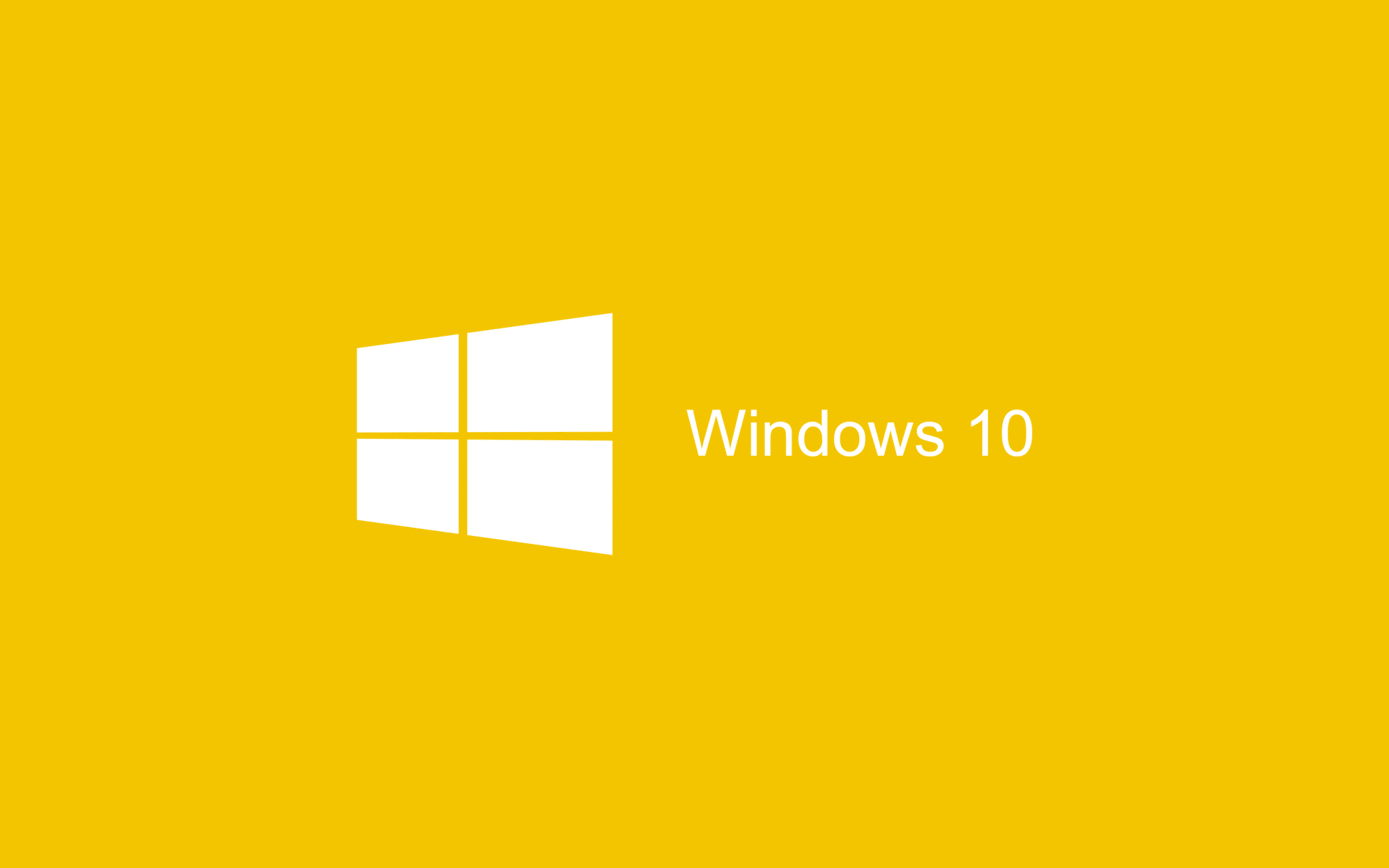 Yellow flat Wallpaper Windows 10 HD 2880x1800