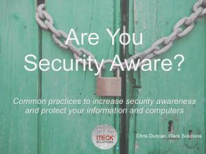 Security Awareness Video