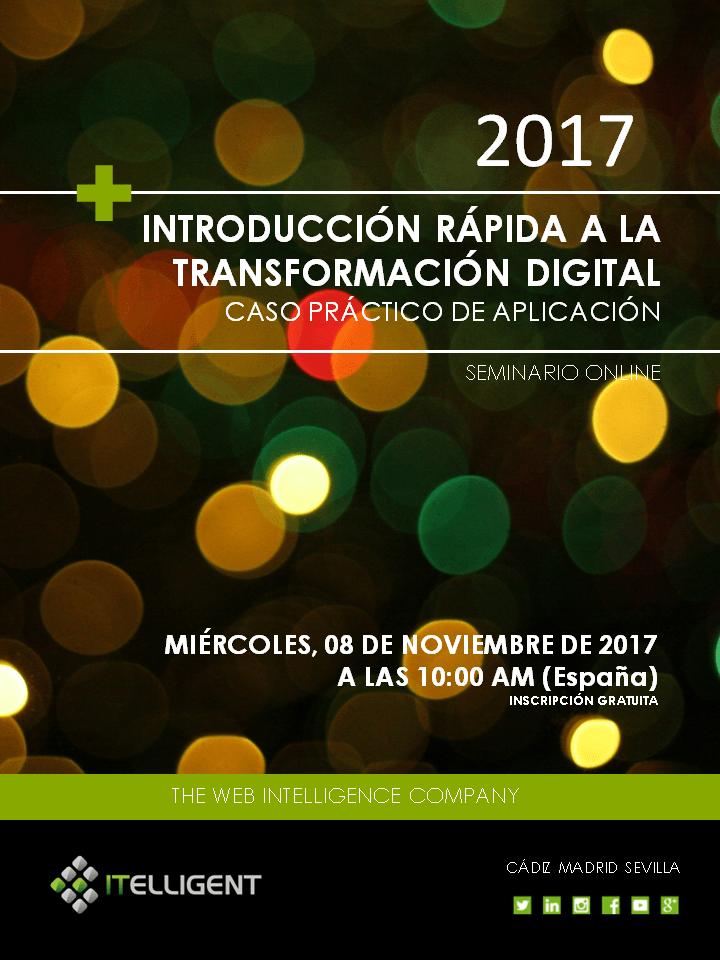 Cartel Webinar ITELLIGENT Transformación Digital