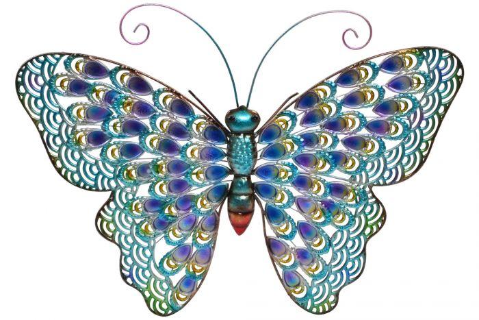 murale metal 56 5x44 5x3 papillon