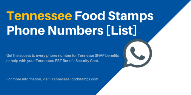 Tennessee SNAP EBT Phone Number