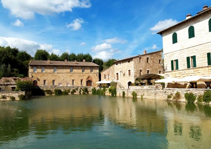 Bagno Vignoni Terme a San Quirico dOrcia in provincia di