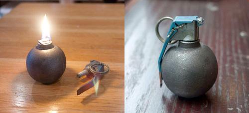 Rete de la muerte con la lmpara granada