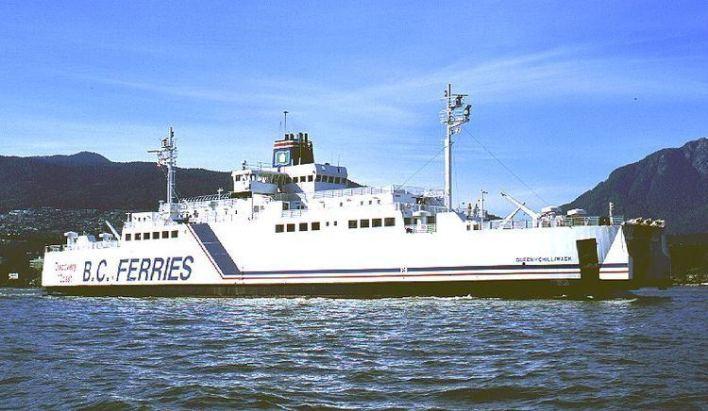 MV Queen of Chilliwack when the vessel was part of BC Ferries' fleet, prior to 2015