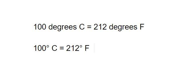 Google Docs with Degree Symbols