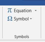 Symbols in Word