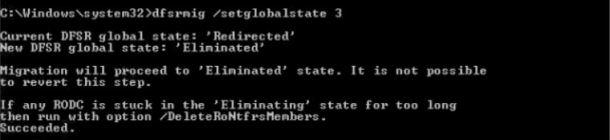 dfsrmig /setglobalstate 3