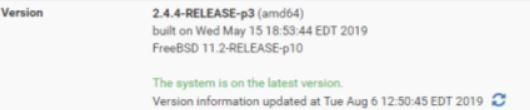 pfsense version info