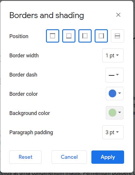 Paragraph Background Color